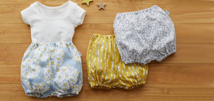 暖かくなって、重ね着がいらなくなると、子どもたちの服を手づくりするのにぴったりの季節になります。気持ちも明るくなるような生地を使って、世界に一つの子ども服を作ってみましょう。