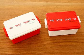 こんな風にお弁当箱の蓋を組み替える使い方もおすすめ。組み合わせ次第でオリジナルのお弁当箱ができちゃいますよ。