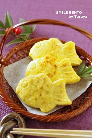 こちらは鯛焼きではなく、卵焼きなんです!それも100円ショップのものを使用して作ったとか…。簡単にできるのにかわいいですね。具をいろいろ変えてアレンジもできそうです。