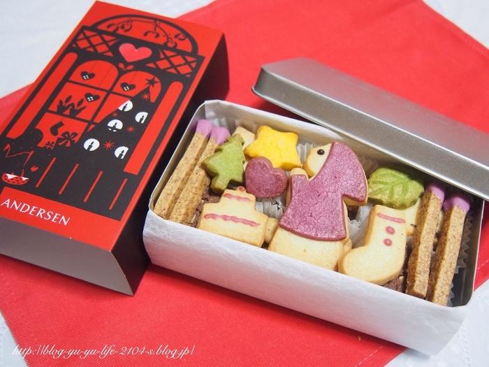 作家アンデルセンのように、パンを通じて人々に幸せを届けたいというコンセプトのもと展開されている商品です。人魚姫や赤ずきんちゃんなど、季節限定で様々な童話クッキーを楽しむことができます。