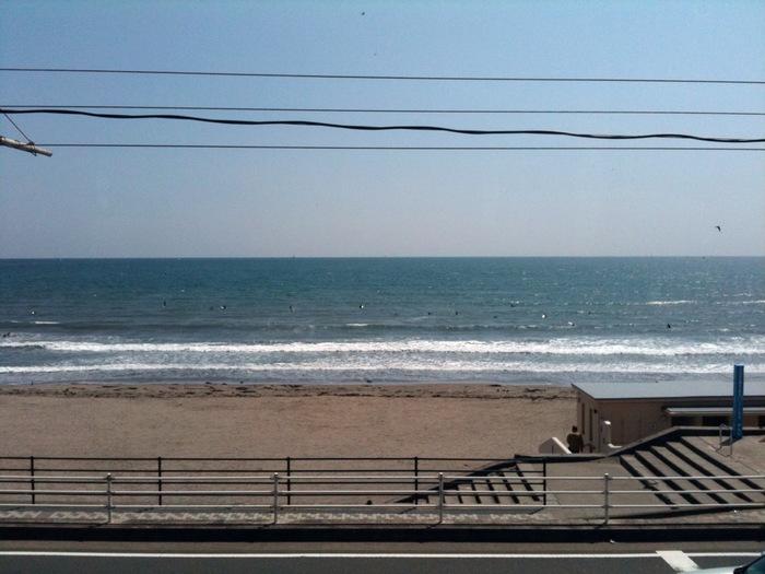 海をお散歩した後に、ほっとひと時お休みすることができます。