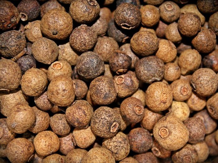 オールスパイスは、名前を見るだけでは、色んなスパイスをミックスした便利スパイスかなと思うのですが、実は植物の名前なんですよ。4大スパイスである、グローブ、 コショウ、シナモン、ナツメグの風味を併せ持つことが、オールスパイスと名づけられた理由。他のスパイスの香りとの相性が良く、カレー以外にお菓子にも使われます。 緊張やストレスを緩和する心への効果や、消化器系の不調へ働きかけてくれます。