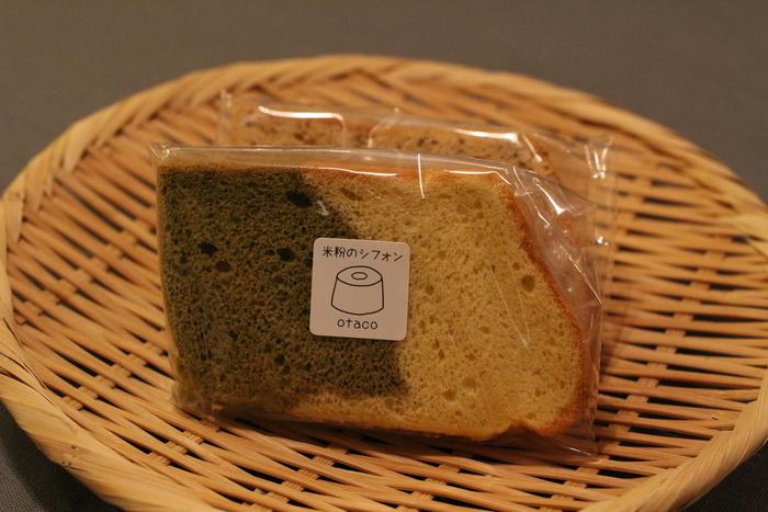 米粉を使用しているため、通常のシフォンケーキよりもさらに軽く、ふんわりとした食感です。たまごや砂糖など、他の素材にもこだわりぬいて体にいいものだけを使っているので、安心して食べられそうです。新しい浅草土産として、定着する日も近いかも!