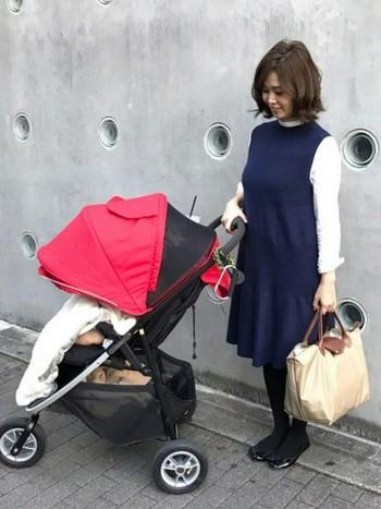 ベビーグッズもしっかり収納できるので、赤ちゃん連れのお出かけにも◎