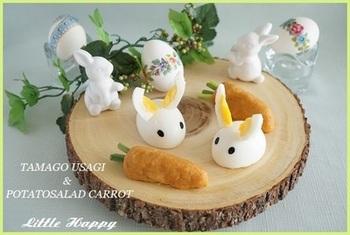 お子様を招いてのイースターには、こんな可愛いウサギのサラダもいいですね♡