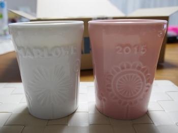 こんなに可愛らしい陶器のカップも!食べた後、何に使おうか考えるのが楽しみになりますね!