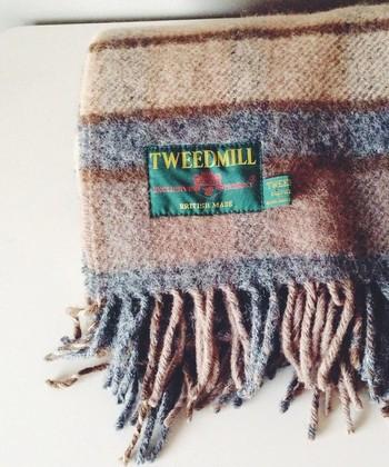 ひざ掛けにショールに。英国伝統のブランケット「ツイードミル」で冬をあたたかく