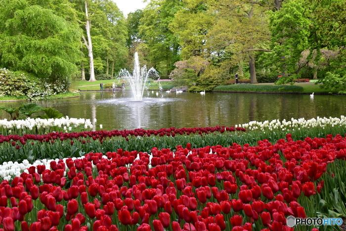 世界中から多くの人が集まり、それぞれの時間をゆったり過ごします。一度は行ってみたい、憧れの公園ですね♪