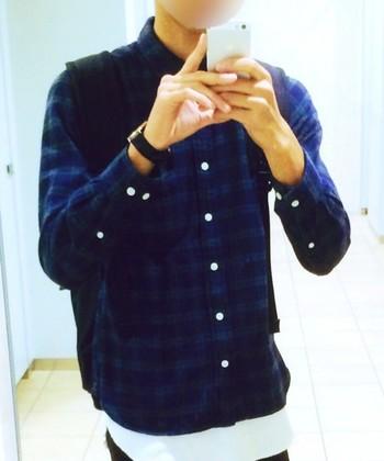こちらはパパにおすすめメンズシャツ♪  年齢をあまり考えずに着れそうです。 とても素敵ですね^^