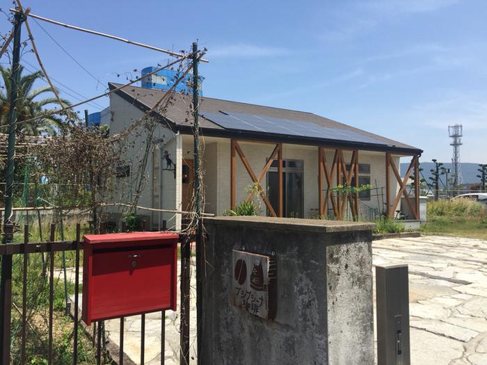 「プシプシーナ珈琲」のお店は閑静な住宅街にあります。