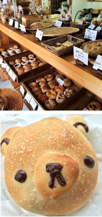 すべてのパンに、りんごをはじめ、旬の果物から起こした自家製母を使用。小麦粉は、長野県産中力粉『シラネ』、長野県産強力粉『ユメカオリ』。フィリングのあんやカスタードは手作り。着色料や保存料、香料は使用していないそうです。