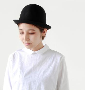 free hatはちょっぴり大人でメンズライクな雰囲気。ユニセックスに使えるデザインです。