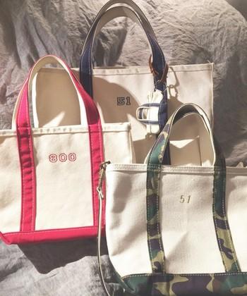 すでに一人一個は持っているんじゃないか?というくらい、街でよく目にするL.L.Beanのトートバッグ。
