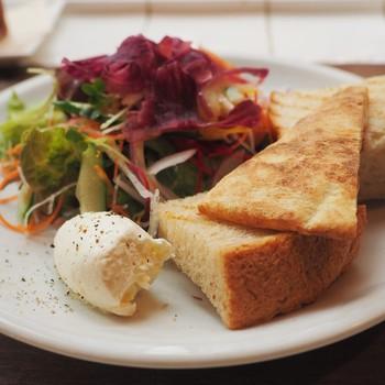 野菜やハーブをたっぷり使ったメニューからパスタやピザまで様々です。 野菜料理に添えられるパンも美味しいと定評がありますよ。