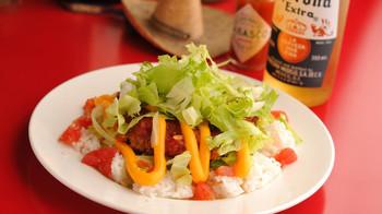 ご飯を用意しておけば、「タコライス」も簡単♪