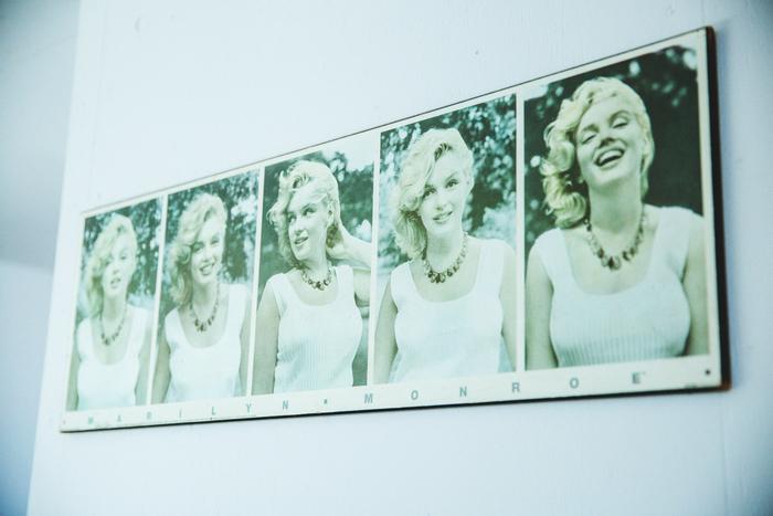 マリリン・モンローのアートパネルはカナダに語学留学していた際に購入