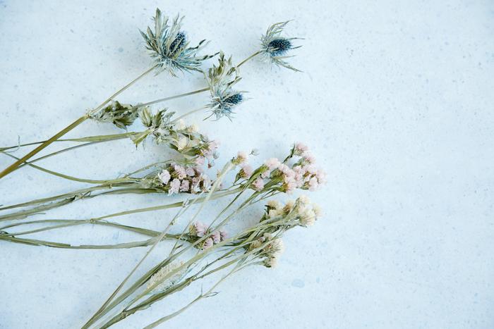趣向を変えて、花束をばらしてみるのはどうでしょう。  もっと小さく、もっとささやかな場所にも花を飾ることができます。