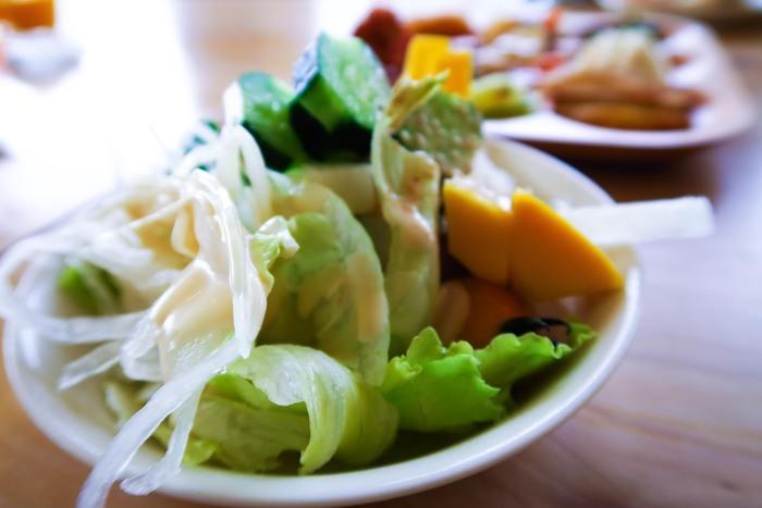 美味しい野菜がたっぷり食べられるレストランは、お子様用にエプロンの貸し出しや、子ども用イスの用意があったりと、子連れでも安心して利用できます。(※混んでいるので、予約必至です。)