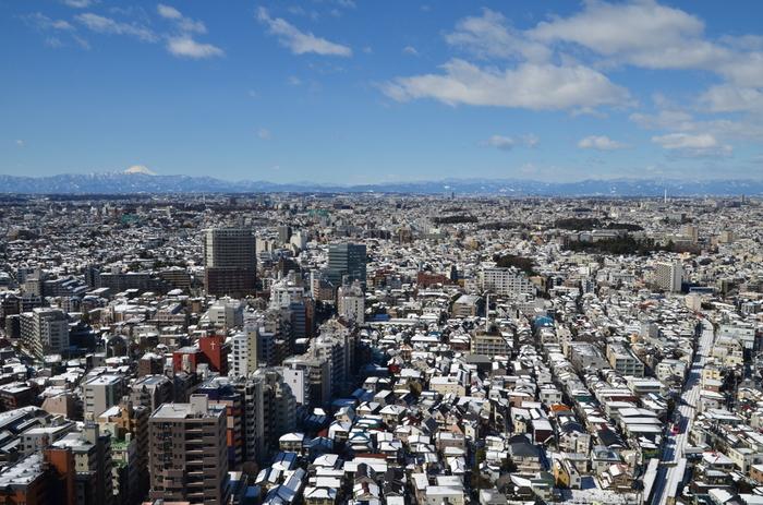 最後は三軒茶屋のシンボル「キャロットタワー」から景色を眺めましょう。新宿の高層ビル街や東京湾、晴れていれば富士山も見えますよ。