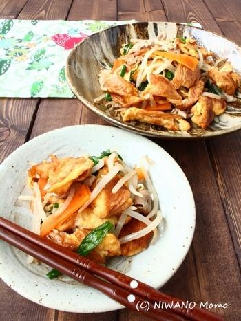 お麩をメインの具材にした、本場沖縄のフーチャンプルーのレシピです。鰹だしに浸したお麩は、旨味をたっぷりの具材に。お肉が少なくても、満足度大のおかずになりますよ♪