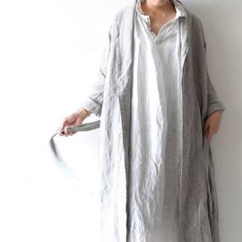コートはもう重いかも?!今の時期に使える!『ロング丈の羽織り』を軽やかに着こなそう
