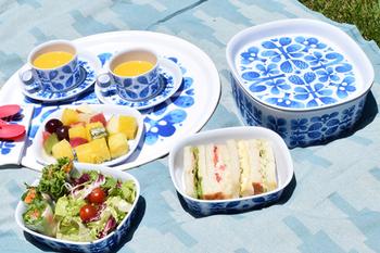 スウェーデンのメーカーOpto Design(オプト・デザイン)から出されているBLUES(ブルー)シリーズ。陶磁器ではなく、メラミン食器です。軽くて割れにくいので、アウトドアで活躍する他、小さなお子様の食器にもぴったり。