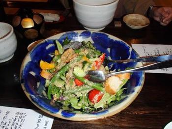 お食事は、お食事処「馳走庵」にて。地元で採れるの旬野菜を中心とした、素朴な田舎風創作会席料理となっています。