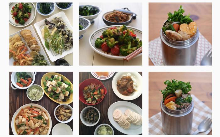 は日々の晩ごはんやお弁当を記録。「今日のメニューどうしよう?」なんて時に、参考になりそうです。