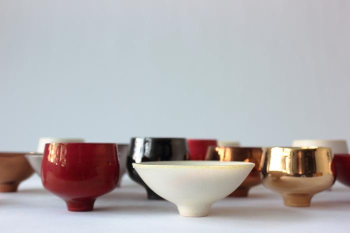 陶芸なのにワイングラスも。すべすべで美しい青木良太さんの器