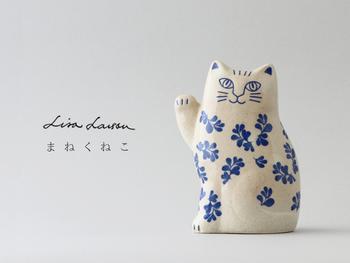 こちらも日本限定アイテムで、Japanシリーズの「まねくねこ」。リサが招き猫を作ったら、こんなにキュートに仕上がりました。波佐見焼なので、和のインテリアにも合わせられそう。