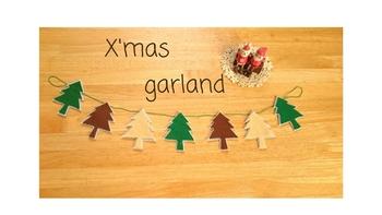 THEクリスマスなもみの木のガーランド。素敵な気分が盛り上がります♪