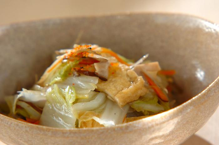 この煮物は、葛粉でとろみをつけるのがポイント。とろみをつけることで野菜の美味しさを余すことなく味わえます!冷蔵庫で3日間保存できるのもうれしい。