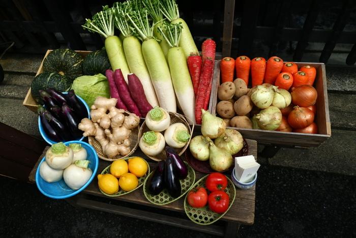そして、主役の野菜! 基本の重ね煮では、椎茸、玉葱、人参を使用します。