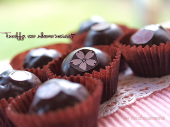 チョコの一部にちょこんと貼るのもキュート♪