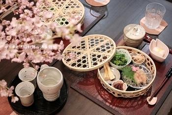 簡単な料理でも、「竹籠盛り」にしただけで風情がでるから不思議。