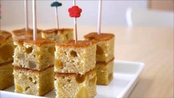 甘い栗きんとんを生かしてケーキを作ることもできます☆オードブル風のおしゃれなおもてなしスイーツです♪