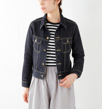 今年は「ジャストサイズ」が定番に。 大きすぎず、左右にポケットのついているスタンダードなタイプが使いやすい。 重ね着もトレンドのため、前を閉めても着られるサイズを選ぶと安心です。
