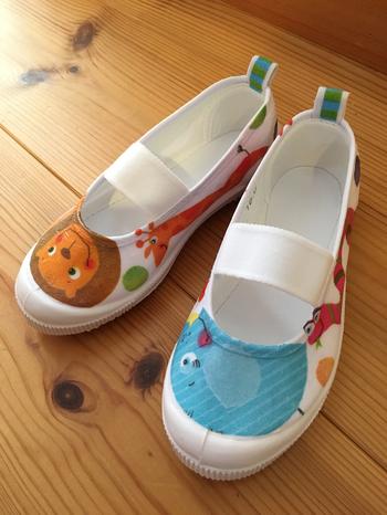 こんなに可愛い上履きに大変身するなら、子供が学校へ行くのも楽しみになりそうですね♪