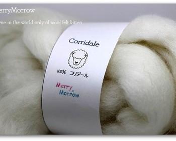 """編み棒の代わりに腕を使うわけだから、一針が大分大きくなります。 それに合わせて出来るだけ""""太い毛糸""""が必要になってきます。理想は小指の太さくらい。"""