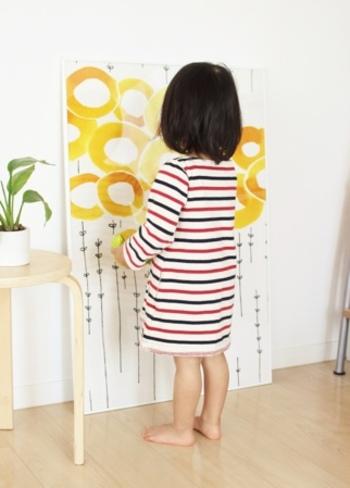 小さなお子さんの背丈ほどもある大きなフレームで、インパクトのあるインテリアとして飾ってみましょう。
