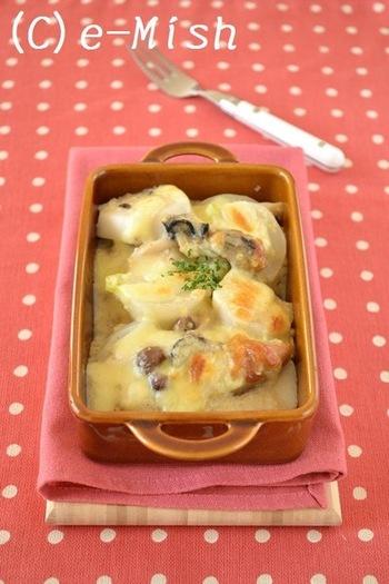 冬の味覚、牡蠣と根菜を使ったグラタンレシピ。とろ~りホクホクのお味です♪