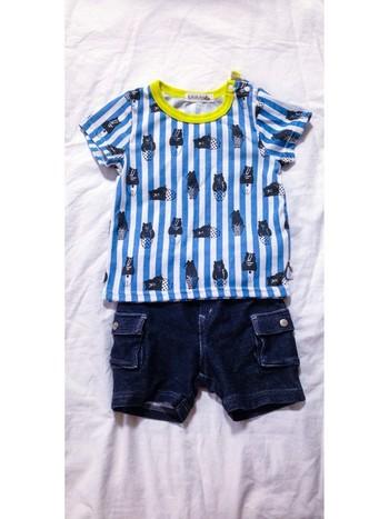 futafutaは、男の子の洋服も可愛いんです。シンプルなボーダー柄から蝶ネクタイやアニマルデザインなどなど。可愛すぎます。