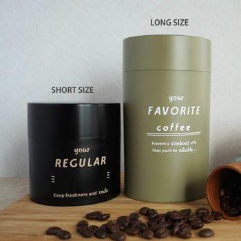 コーヒー豆を入れておくのに便利なキャニスター。 シンプルなデザインで、普段使いにもぴったりです。