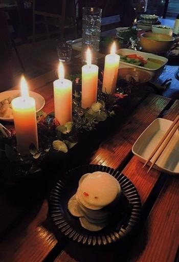 ロウ涙が垂れにくいので、落ち着いてディナーを楽しめます。