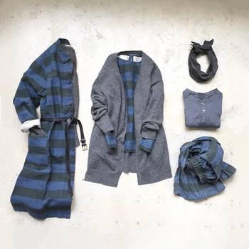 """合わせやすく、こなれた着こなしができるネイビーは、ワードローブにおさえておきたいマストカラー。日本人の肌と相性が良いことでも知られており、コーディネート上手な""""おしゃれ優等生""""です。"""