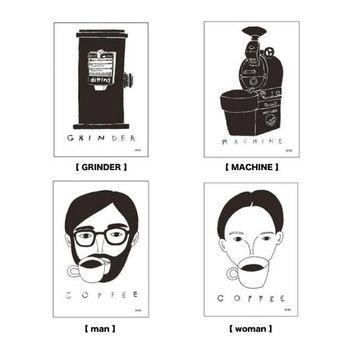 """イラストレーターのyachiyo katsuyamaさんとコラボした、""""Coffee break""""の様子が描かれたポスターも販売されています。"""