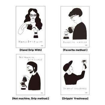 個性的でオシャレなポスターは全8種類。 IFNi coffeeのオンラインショップでも購入できます。