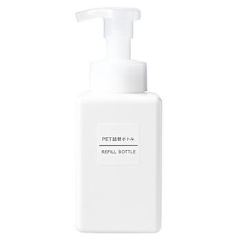 PET詰替ボトル・泡タイプ・ホワイト・400ml用  泡で出てくるタイプのボトルは洗顔フォーム用などに◎。