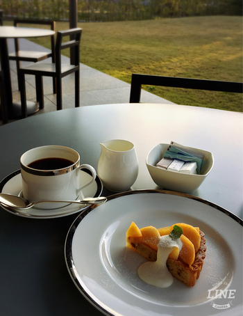 休憩時にカフェを利用するなら「ケーキセット」が断然お勧め。ホテルならではのサービスで、上質なケーキをリーズナブルな値段で味わえます。