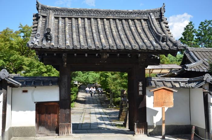 「三十三間堂」の東側に位置する「養源院」は、徳川歴代の位牌をまつっている寺院です。 【画像は「養源院」の山門と長い参道。】